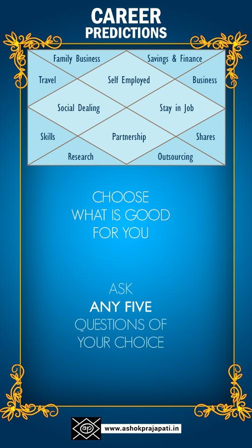 Planning for career predictions - Basic Infographic of 12 Houses & right path for career.